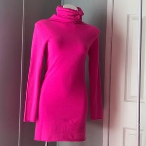 Hot pink sweater dress from Bloomingdales sz XS